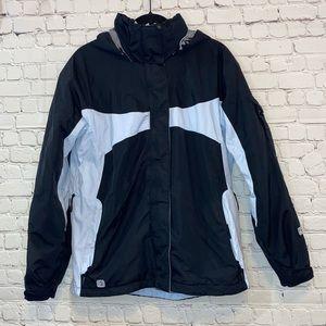 Columbia Convert BaseTRX Black & Blue Winter Coat